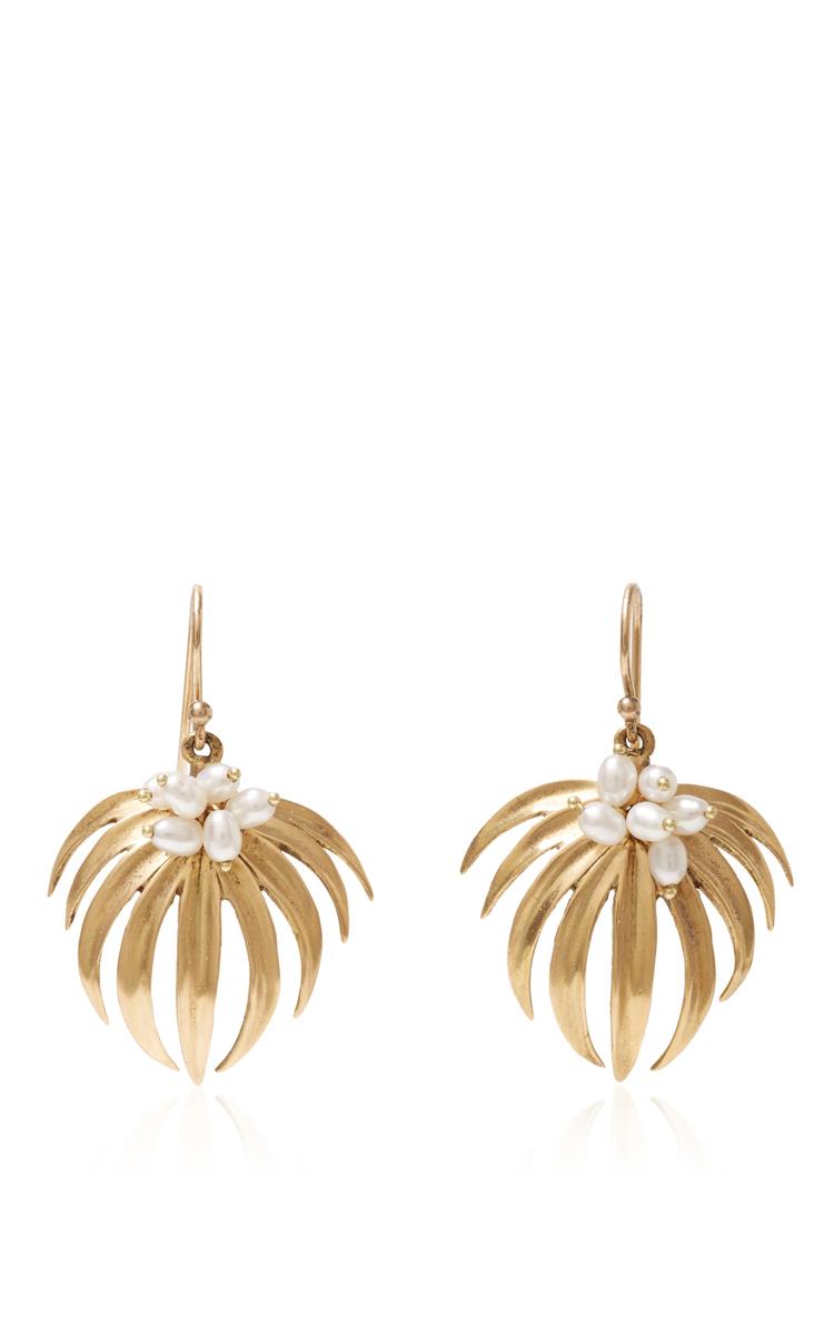 Curled Palm Leaf Earrings