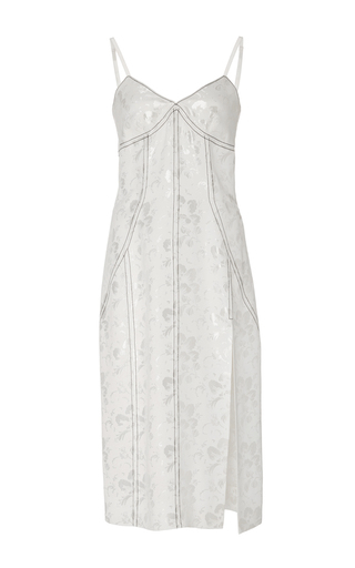Medium wes gordon white white topstitched cami dress