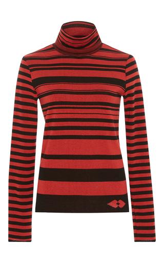 Medium sonia by sonia rykiel stripe striped heart jacquard turtleneck sweater