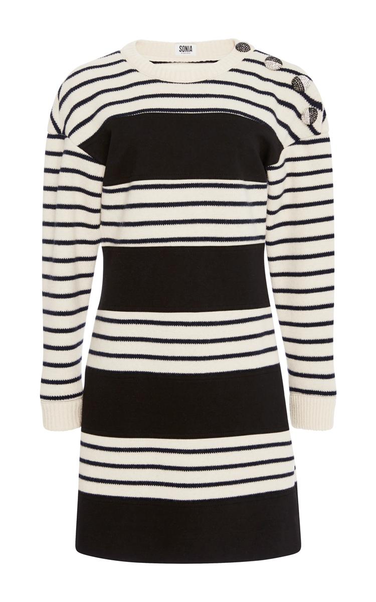 018824a8c0 Embellished Striped Knit Dress by Sonia by Sonia Rykiel | Moda Operandi