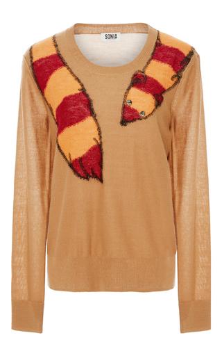 Medium sonia by sonia rykiel tan embellished fox intarsia sweater  2