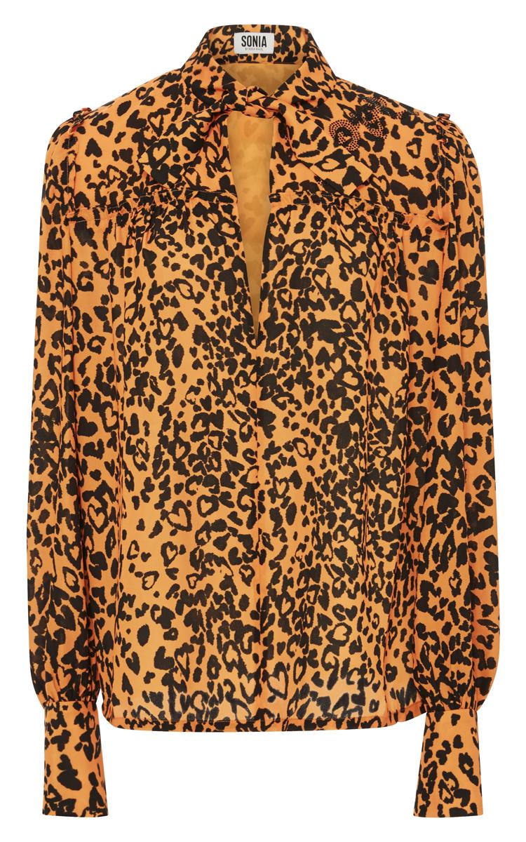 Sonia Rykiel leopard print blouse Clearance Manchester Cheap Sale 100% Authentic 3SxeP