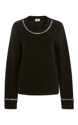Medium sonia by sonia rykiel black chunky chainlink wool sweater
