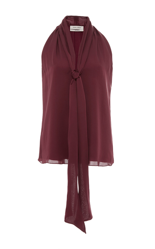 Medium prabal gurung burgundy tie neck blouse