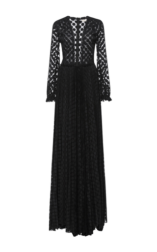 Medium maria lucia hohan black kitty deep v long sleeve dress
