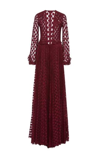 Medium maria lucia hohan burgundy kitty deep v long sleeve dress  2