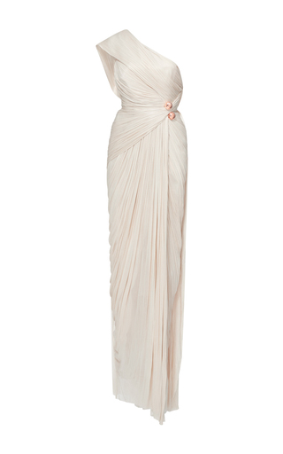 Medium maria lucia hohan neutral darlinda one shoulder tulle gown