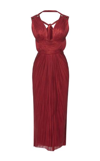 Medium maria lucia hohan red dita tulle v neck dress
