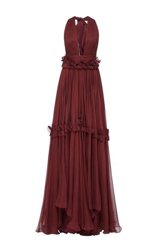Medium maria lucia hohan burgundy minnie deep v tank georgette dress