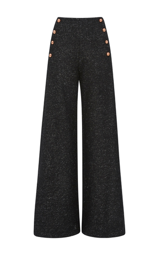 Medium maria lucia hohan black mae high waisted wide leg pant