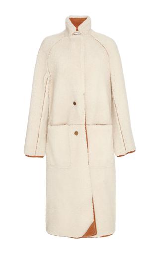 Medium apiece apart neutral cream las nubes shearling coat
