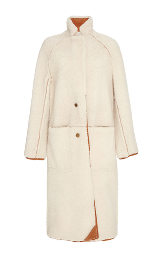 Medium apiece apart neutral cream las nubes shearling coat
