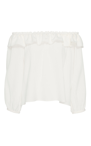 Medium apiece apart off white totto strapless crop top