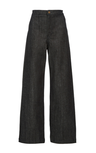 Medium apiece apart dark wash cropped denim
