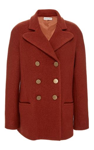 Medium apiece apart red short pea coat