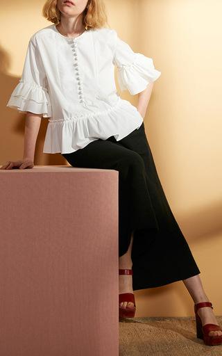 Zinnia Ruffle Arm Blouse by APIECE APART Now Available on Moda Operandi