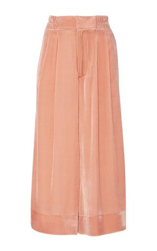 Medium apiece apart pink velvet cropped taiyana pant