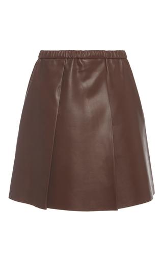 Medium bally brown a line leather skirt  2