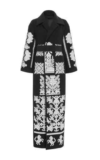 Medium yuliya magdych black black kievan rus coat