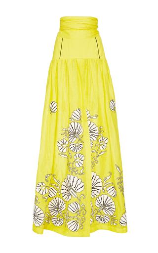 Medium yuliya magdych yellow flower shells skirt