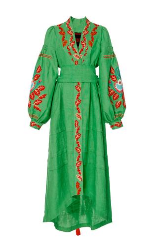 Medium yuliya magdych lime green edentree long caftan