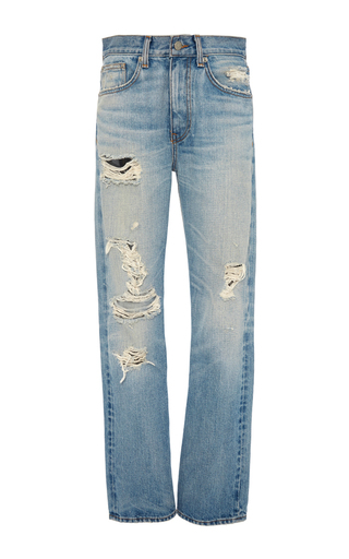 Medium brock light wash wright distressed denim pant