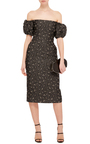 Off The Shoulder Jacquard Dress by BROCK COLLECTION Now Available on Moda Operandi