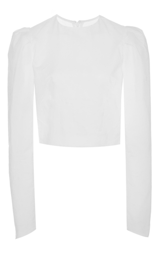 Medium brock white babette cotton voile long sleeve blouse