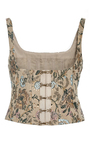 Berenice Floral Jacquard Bustier by BROCK COLLECTION Now Available on Moda Operandi