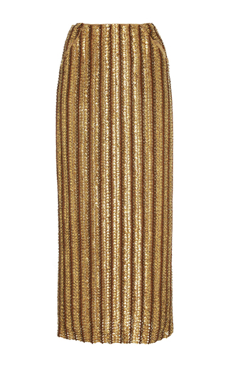 Medium brock gold snow chainmail embroidered skirt