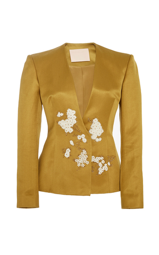 Medium brock yellow embroidered jaynce jacket