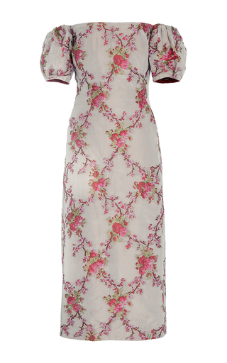 Medium brock floral ditsy off the shoulder taffeta dress