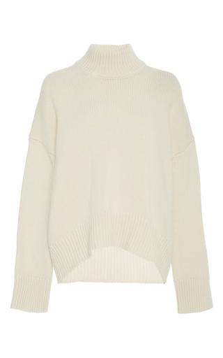 Medium brock white kathleen wool cashmere pullover