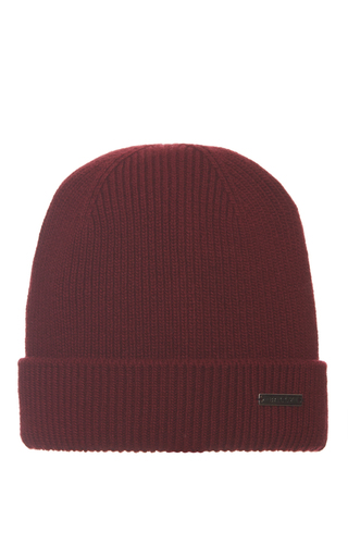 Medium bally burgundy wool and cashmere beanie hat