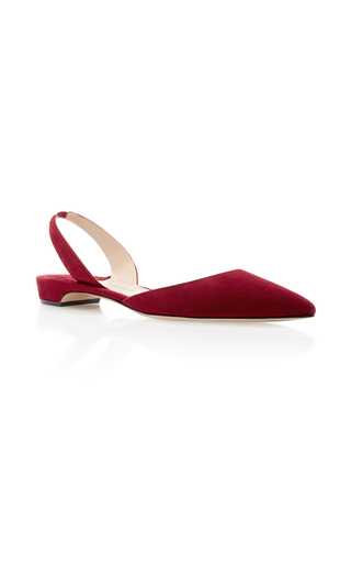 Medium paul andrew red rhea slingback flat
