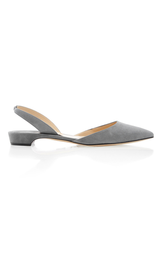 Medium paul andrew dark grey rhea slingback flat 2