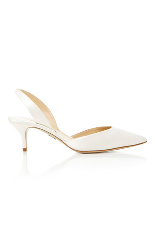 Medium paul andrew off white rhea slingback heels