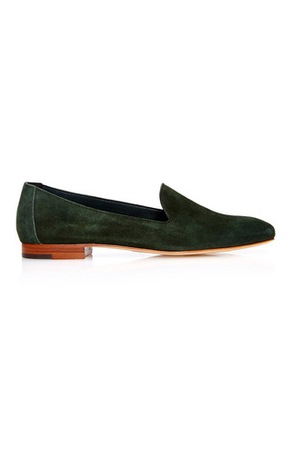 Medium mansur gavriel green venetian loafer  2