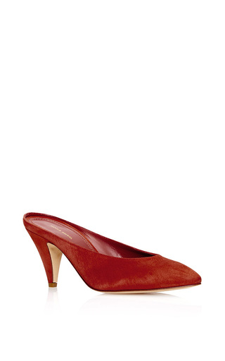 Medium mansur gavriel red heel slipper  5