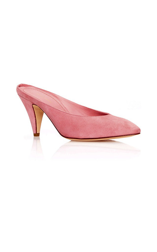 Medium mansur gavriel pink heel slipper  6