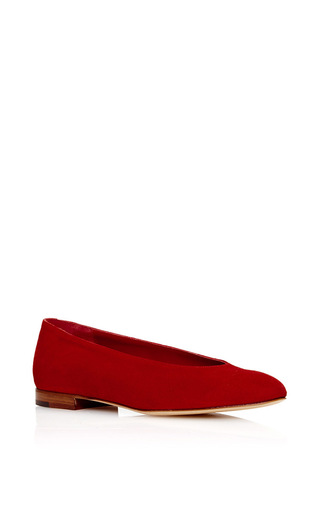 Medium mansur gavriel red ballerina  2