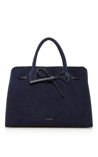 Medium mansur gavriel navy large sun bag  2