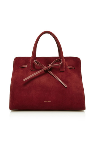 Medium mansur gavriel burgundy sun bag  2