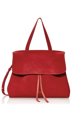 Medium mansur gavriel red lady bag  2