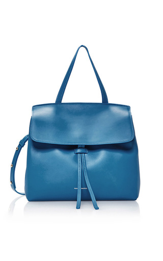 Medium mansur gavriel blue mini lady bag