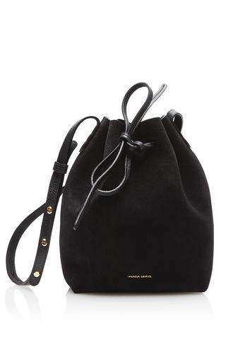 Medium mansur gavriel black mini bucket bag