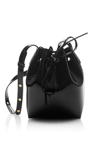 Medium mansur gavriel black mini bucket bag  5