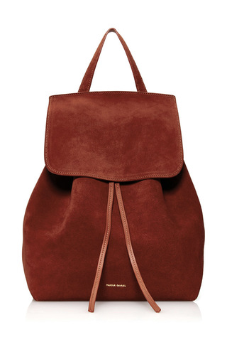 Medium mansur gavriel burgundy drawstring backpack