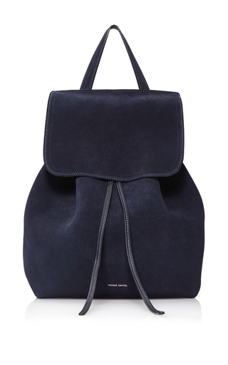 Medium mansur gavriel navy backpack  2