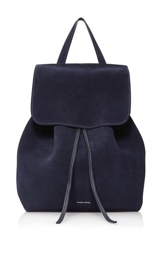 Medium mansur gavriel navy backpack  2